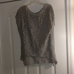 Apt 9 Grey floral blouse